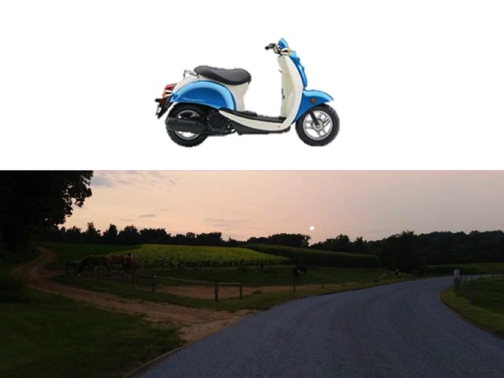 Sunset Covered Bridge Tour 1 Person Scooter  (Single Seat)