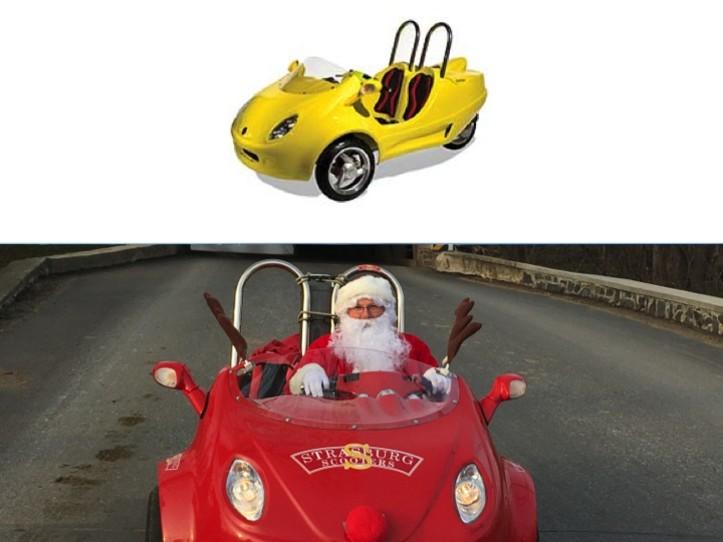 Scootin' with Santa