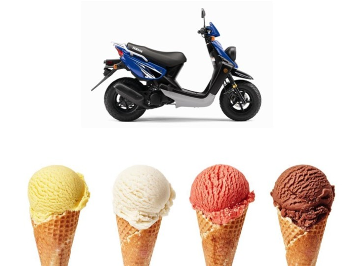 Ice Cream Experience Tour  2 Person Scooter  (Double Seat)