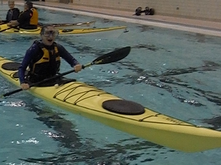 Kayak Rolling at Park Colony